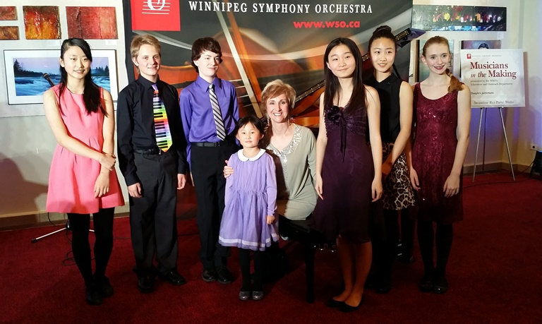 Jacqueline and students at Musicians in the Making, February 2015