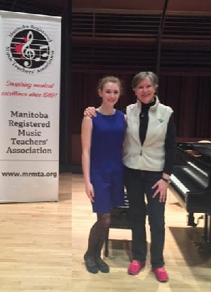 Nika with Canadian pianist Janina Fialkowska at an MRMTA sponsored masterclass